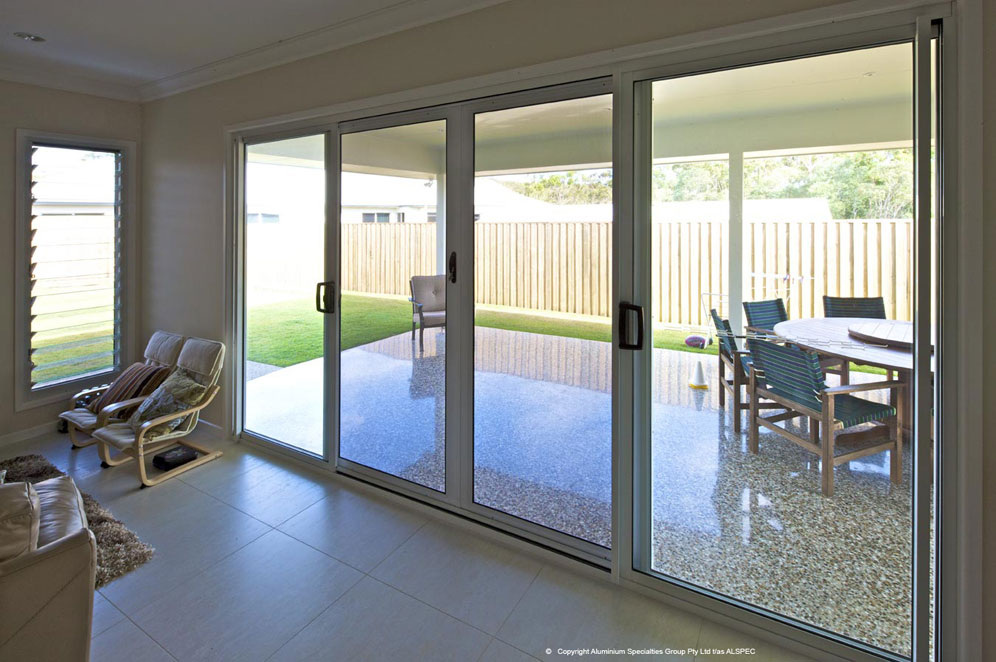 Eurostyle windows and doors invisi gard sliding security for Back door sliding door