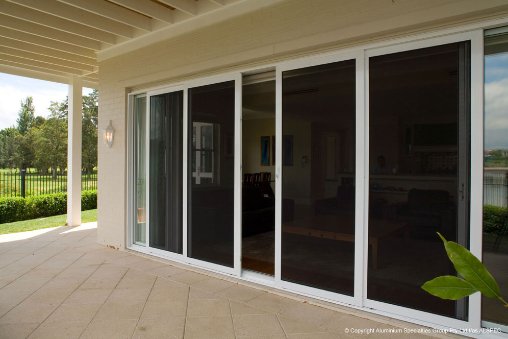 Eurostyle windows and doors invisi gard sliding security for Sliding security doors
